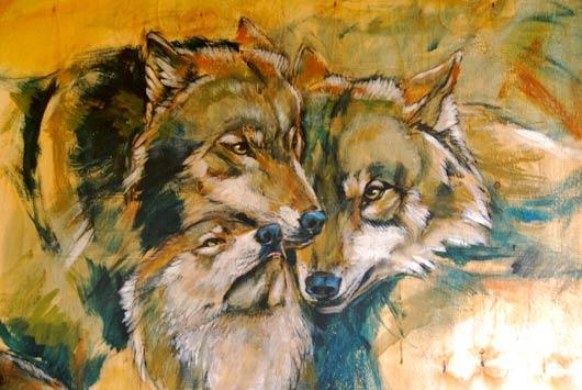wolvenschilderij